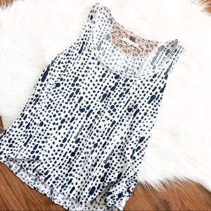 Anthropologie (Pure + Good) Paint Splattered Tank